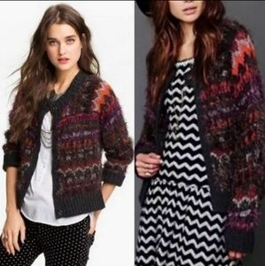 Free People Nordic Party Knit Ribbed Sweater Small